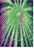 Fireworks. Celebratory background with an illustration of abstract fireworks Stock Photography
