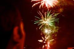2 fireworks στοκ εικόνες με δικαίωμα ελεύθερης χρήσης