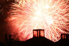 Fireworks. In the neighborhood Royalty Free Stock Photography
