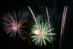 Fireworks. Queensday Fireworks Scheveningen 2006 stock image