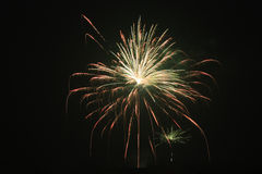 Fireworks. Beautiful display of fireworks over night sky stock photography