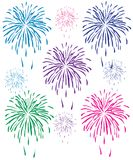 Fireworks. Abstract vector illustration of fireworks Royalty Free Stock Photo