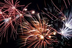 Fireworks. Different fireworks Royalty Free Stock Images