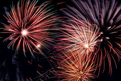 Fireworks. Different fireworks - celebrating Royalty Free Stock Photo