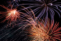 Fireworks. Different fireworks Royalty Free Stock Photography