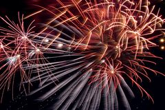 Fireworks. Different fireworks Royalty Free Stock Photos