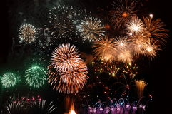 Fireworks. In Madeira Island stock image