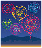 Fireworks. It is the background of the fireworks which are full of colors Royalty Free Stock Photography