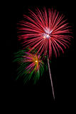 Fireworks. Display isolated on a black background Stock Photography