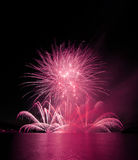 Fireworks. International fireworks competentions Ignis Brunensis in Brno in Czech Republic Royalty Free Stock Image