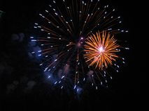 Free Fireworks, A Stunning Orange Flower Exploding In The Night Sky Stock Photography - 166219462