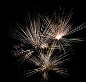 Fireworks abstract. A spray of fireworks resembling abstract art Stock Photo