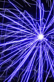 Fireworks abstract. Sizzling indigo firework pattern Royalty Free Stock Images