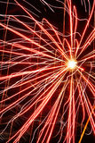 Fireworks abstract. Red firework shower Stock Images
