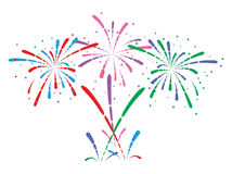 Fireworks, vector  Stock Photography