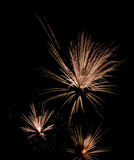 Fireworks abstract art. Multiple bursts of fireworks resembling an abstract Royalty Free Stock Images