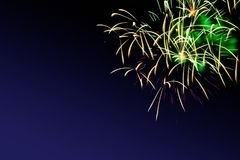 Fireworks abstract on dark background Stock Photos