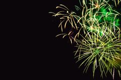 Fireworks abstract on dark background Royalty Free Stock Images