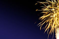 Fireworks abstract on dark background. Colorful firework on the night sky. New Year celebration fireworks. Abstract firework  on black background with free space Stock Photography
