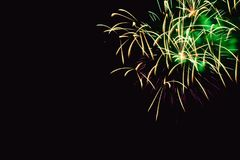Fireworks abstract on dark background Royalty Free Stock Photography