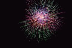 Fireworks abstract on dark background Royalty Free Stock Image