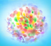 Fireworks abstract watercolor Stock Photo