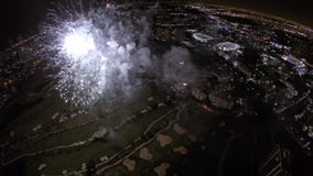 Fireworks Aerial Stock Photo