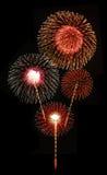 Fireworks against black sky Stock Photo