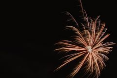 Fireworks against the dark sky Royalty Free Stock Photos