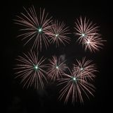Fireworks Against the Night Sky Royalty Free Stock Image