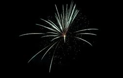 Fireworks Against the Night Sky Royalty Free Stock Photos