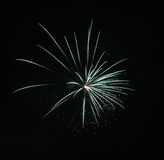 Fireworks Against the Night Sky Royalty Free Stock Photography