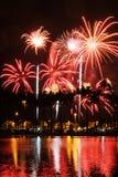 Fireworks at Ala Moana. Ala Moana Waikiki Fireworks Display Stock Photos
