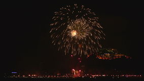 Fireworks in Alicante Stock Image