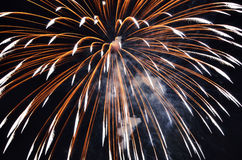 Fireworks. Amazing fireworks in the sky in the night Royalty Free Stock Photos