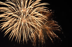 Fireworks. Amazing fireworks in the sky in the night Royalty Free Stock Photo