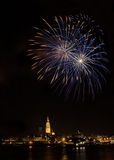 Fireworks in Antwerp Royalty Free Stock Photo