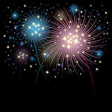 Fireworks background. Fireworks design for background in designwork Stock Photos