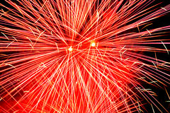 Fireworks background Stock Photo