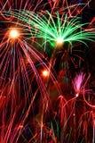 Fireworks background Stock Photos