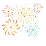 Fireworks in the background Royalty Free Stock Image