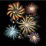 Fireworks in the background Royalty Free Stock Images