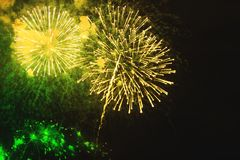 Fireworks background with beautiful yellow and green flowers pro stock images