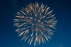 Fireworks on the background of blue sky Royalty Free Stock Photos