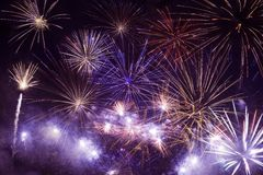 Fireworks Background Stock Photography