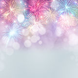 Fireworks background Stock Photos