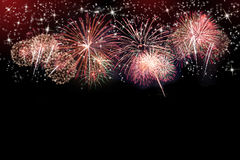 Fireworks background Royalty Free Stock Photos