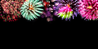 Fireworks background Stock Images