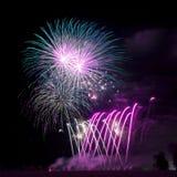 Fireworks Background Stock Photo