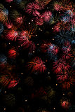 Fireworks background Royalty Free Stock Images